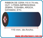 RIBBON DE CERA 110 X 74 Mts.