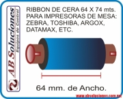 RIBBON DE CERA 64 X 74 Mts.